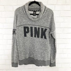 PINK Victoria's Secret Gray Cowl-neck Sweatshirt